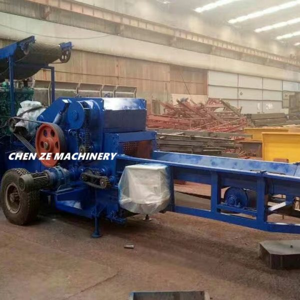 mobile BX218 crusher testing with straw