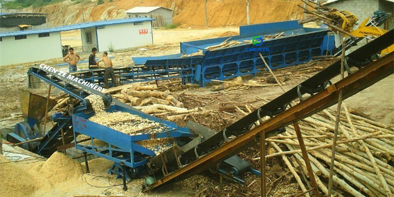 debarker and disc wood chipper for chips product line in china