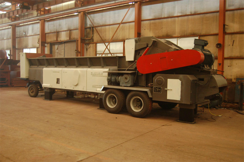 40-60t per hour mobile wood crusher for biomass power plant