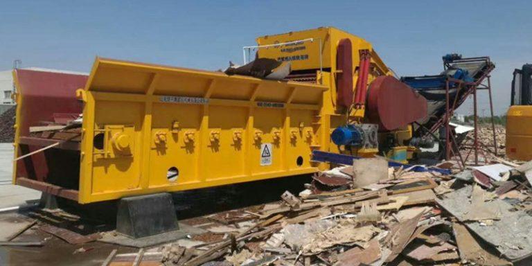 wood waste grinding shredder for biomass power plant
